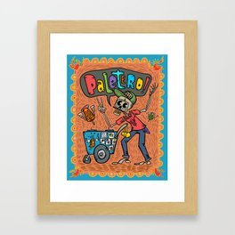 Day of the Dead PALETERO Sings with Angel Popsicles Framed Art Print