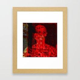 Red code Framed Art Print