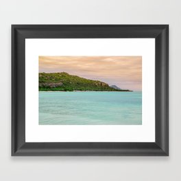 Colorful Day at the Beach Framed Art Print