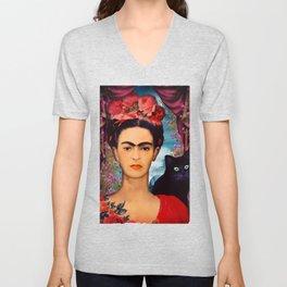 Frida Kahlo   c Unisex V-Neck