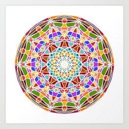 Mandala pattern colored Art Print