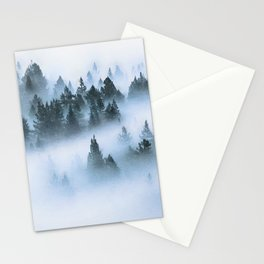 Foggy forest watercolor painting #12 Stationery Cards