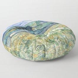 Landscape from Saint-Remy by Vincent van Gogh Floor Pillow