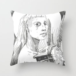 Mother & Child Throw Pillow