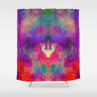 rorschach Shower Curtains featuring Rorschach  by Marta Olga Klara