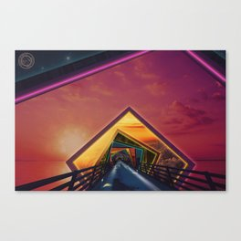 Bridge of a Thousand Colors, a Beautiful Rainbow Fractalscape Canvas Print