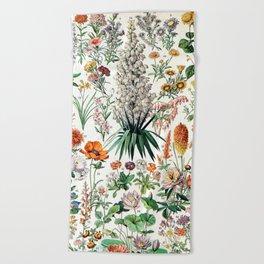 Adolphe Millot - Fleurs B - French vintage poster Beach Towel