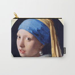 Girl with a Pearl Earring and stripes Carry-All Pouch