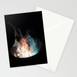 Blue Flames // Stationery Cards