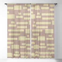Sugar Cane - Abstract Geometric Shapes Sheer Curtain
