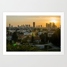 Tel Aviv skyline from Ramatgan 3 Art Print