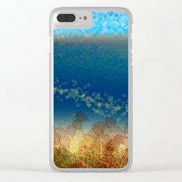 Abstract Seascape 01 w Clear iPhone Case