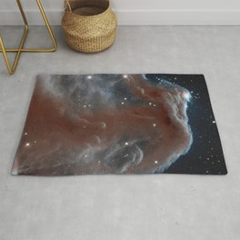 illuminated reins of the nebulous horse | space 011 Rug