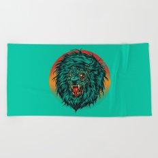 Zombie Lion Beach Towel