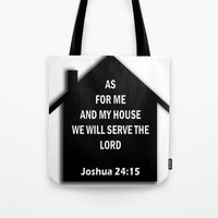 bible verse Tote Bags featuring Bible verse by cmphotography