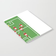 Soccer football team in red Notebook