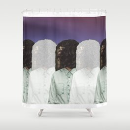 Stationery Repition Shower Curtain