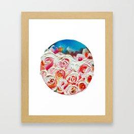 Roses on Fire Framed Art Print