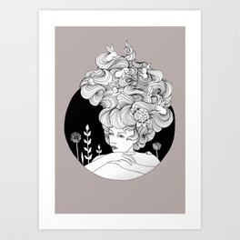 Travelling - Mulled Time Art Print