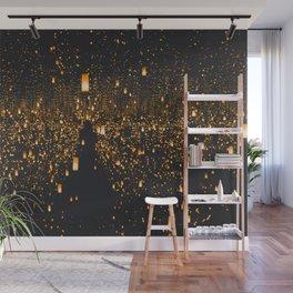 Golden Lights (Color) Wall Mural