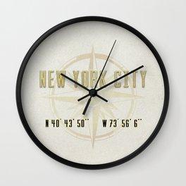 New York City Vintage Location Design Wall Clock