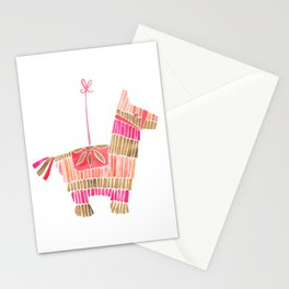 Mexican Donkey Piñata – Pink & Rose Gold Palette Stationery Cards