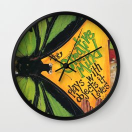 Butterfly  ( The Creative Mind) Wall Clock