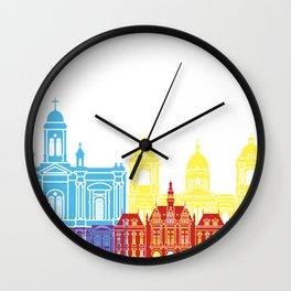 La Paz skyline pop Wall Clock