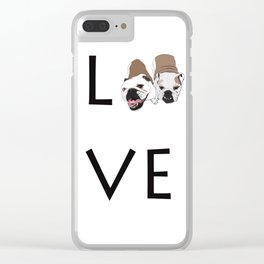 Love. English Bulldogs Clear iPhone Case
