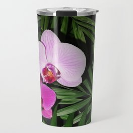 Orchids with palm leaves Travel Mug