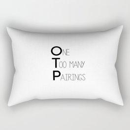 otp // white Rectangular Pillow