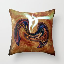 Beginnings: Birth of Twin Planets with Souls Throw Pillow