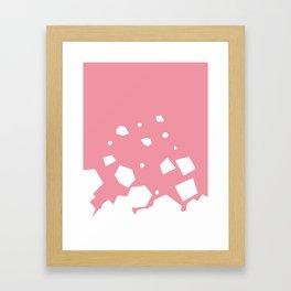 Rockery on Pink Framed Art Print
