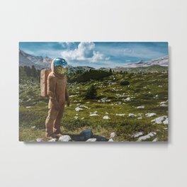 The Spaceman (Color) Metal Print