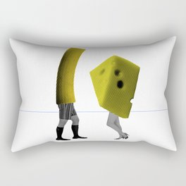 Because she's the cheese and I'm the macaroni Rectangular Pillow