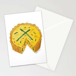 Q is for Quiche Stationery Cards