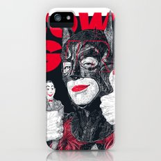 Cowl Girl Design (white) by Guillaume Morellec  Slim Case iPhone (5, 5s)