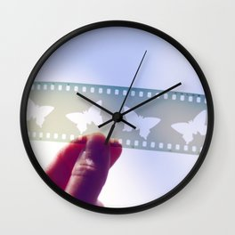 Beauty in the Negatives Wall Clock