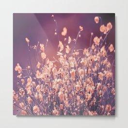 Delicate Flowers Purple Tones Background #decor #society6 #buyart Metal Print