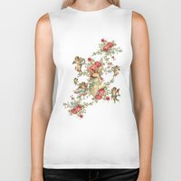 romantic Biker Tanks featuring romantic by mark ashkenazi