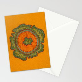 Growing -Taxus - embroidery based on plant cell under the microscope Stationery Cards