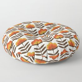 Boogie - retro florals minimal trendy 70s style throwback flower pattern Floor Pillow
