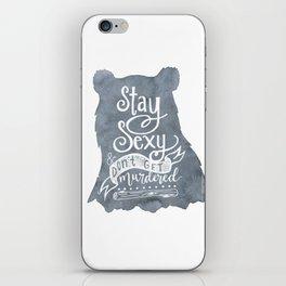 SSDGM Bear iPhone Skin