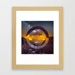 CIRCULAR LANDSCAPE Framed Art Print