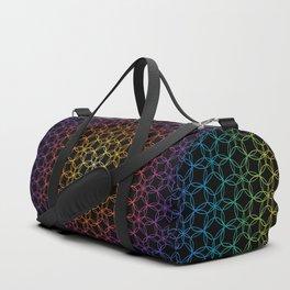 Rainbow Flower of Life Duffle Bag