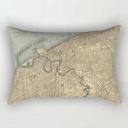 Vintage Map of Cleveland OH (1894) Rectangular Pillow