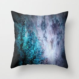 My Dreams Are Coming True : Turquoise & Lavender Throw Pillow