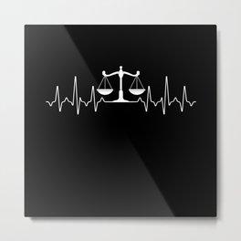 Law Metal Print