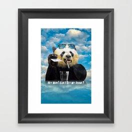 hey man ! Framed Art Print