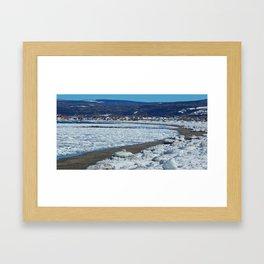 Frozen Beach Framed Art Print
